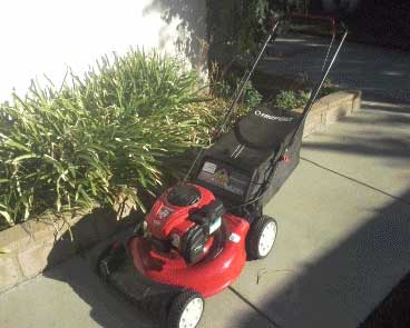 Author's Typical Troy-Bilt Lawnmower